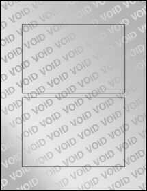 """Sheet of 6"""" x 4"""" Void Silver Polyester labels"""