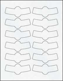 "Sheet of 3.4833"" x 1.4445"" Clear Matte Laser labels"