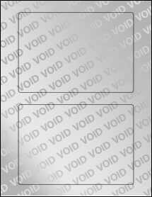 """Sheet of 6.5"""" x 4.5"""" Void Silver Polyester labels"""