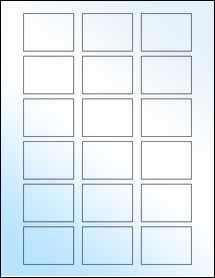"""Sheet of 2"""" x 1.5"""" White Gloss Inkjet labels"""