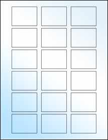 """Sheet of 2"""" x 1.5"""" White Gloss Laser labels"""