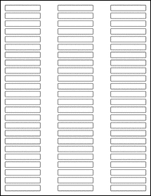 "Sheet of 2"" x 0.315"" Blockout for Laser labels"