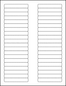 "Sheet of 3.125"" x 0.5""  labels"