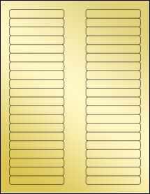"""Sheet of 3.125"""" x 0.5"""" Gold Foil Inkjet labels"""