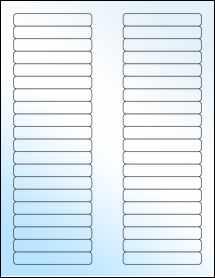 """Sheet of 3.125"""" x 0.5"""" White Gloss Inkjet labels"""