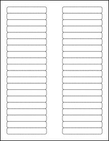 """Sheet of 3.125"""" x 0.5"""" Weatherproof Matte Inkjet labels"""