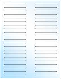 "Sheet of 3.125"" x 0.5"" White Gloss Laser labels"