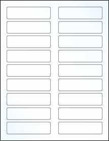 "Sheet of 3.4375"" x 0.9375"" Clear Gloss Inkjet labels"