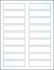 "Sheet of 3.4375"" x 0.9375"" Clear Gloss Laser labels"