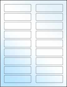 "Sheet of 3.4375"" x 0.9375"" White Gloss Inkjet labels"