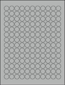 "Sheet of 0.625"" Circle True Gray labels"