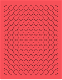 """Sheet of 0.625"""" Circle True Red labels"""