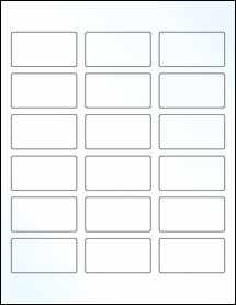 """Sheet of 2.375"""" x 1.25"""" Clear Gloss Laser labels"""