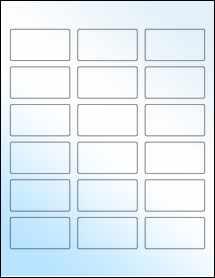 """Sheet of 2.375"""" x 1.25"""" White Gloss Inkjet labels"""