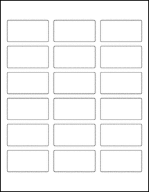 "Sheet of 2.375"" x 1.25"" Removable White Matte labels"