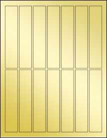 "Sheet of 1"" x 5"" Gold Foil Laser labels"