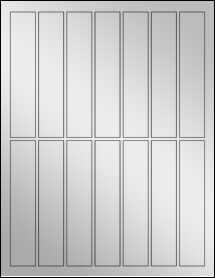 """Sheet of 1"""" x 5"""" Silver Foil Laser labels"""