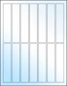 """Sheet of 1"""" x 5"""" White Gloss Inkjet labels"""