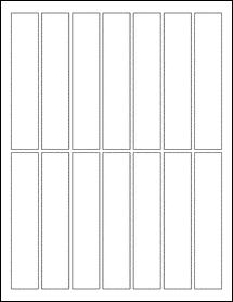 """Sheet of 1"""" x 5"""" Weatherproof Matte Inkjet labels"""