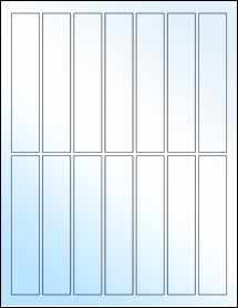 """Sheet of 1"""" x 5"""" White Gloss Laser labels"""