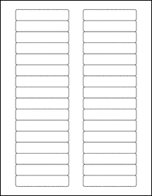 "Sheet of 3"" x 0.625""  labels"