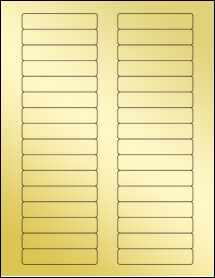 """Sheet of 3"""" x 0.625"""" Gold Foil Laser labels"""