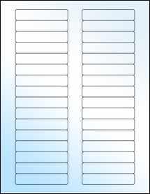 """Sheet of 3"""" x 0.625"""" White Gloss Inkjet labels"""