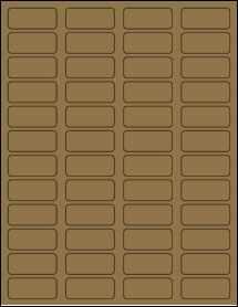 """Sheet of 1.75"""" x 0.75""""  Brown Kraft labels"""