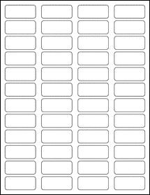 "Sheet of 1.75"" x 0.75"" Blockout for Laser labels"
