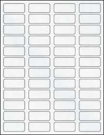 """Sheet of 1.75"""" x 0.75""""  Clear Matte Inkjet labels"""