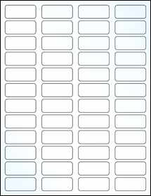 "Sheet of 1.75"" x 0.75""  Clear Gloss Laser labels"