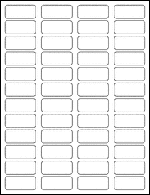"Sheet of 1.75"" x 0.75""  Removable White Matte labels"