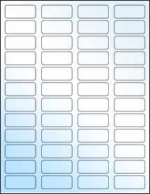 "Sheet of 1.75"" x 0.75"" White Gloss Laser labels"