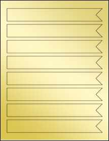 "Sheet of 7.5"" x 1"" Gold Foil Inkjet labels"