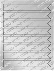 "Sheet of 7.5"" x 1"" Void Silver Polyester labels"