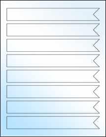 """Sheet of 7.5"""" x 1"""" White Gloss Inkjet labels"""