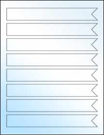 "Sheet of 7.5"" x 1"" White Gloss Laser labels"