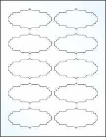 "Sheet of 3.5"" x 1.75"" Clear Gloss Inkjet labels"