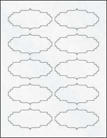 "Sheet of 3.5"" x 1.75"" Clear Matte Laser labels"