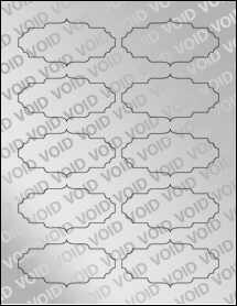 "Sheet of 3.5"" x 1.75"" Void Silver Polyester labels"