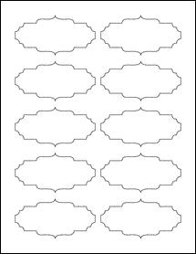 """Sheet of 3.5"""" x 1.75"""" Weatherproof Matte Inkjet labels"""
