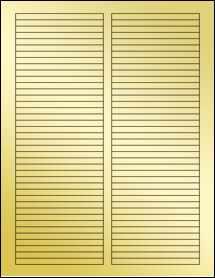 """Sheet of 3.5"""" x 0.25"""" Gold Foil Laser labels"""