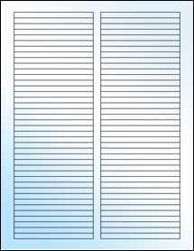 """Sheet of 3.5"""" x 0.25"""" White Gloss Laser labels"""