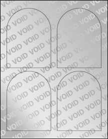 """Sheet of 3.5"""" x 4.75"""" Void Silver Polyester labels"""