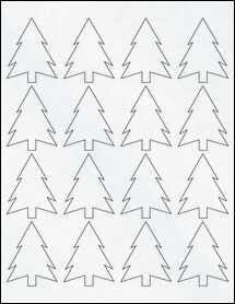 """Sheet of 1.8327"""" x 2.3458"""" Clear Matte Inkjet labels"""