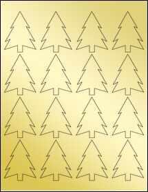 """Sheet of 1.8327"""" x 2.3458"""" Gold Foil Laser labels"""