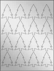 """Sheet of 1.8327"""" x 2.3458"""" Silver Foil Inkjet labels"""