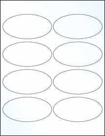 """Sheet of 4"""" x 2"""" Clear Gloss Laser labels"""