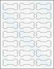 "Sheet of 2.3852"" x 1.0671"" Clear Matte Inkjet labels"