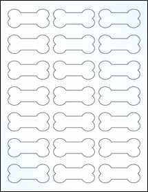"Sheet of 2.3852"" x 1.0671"" Clear Gloss Laser labels"